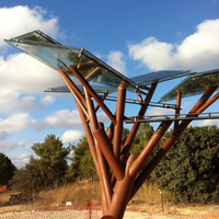 Solar Tree-Factory Supplying Smart Backless Park Bench